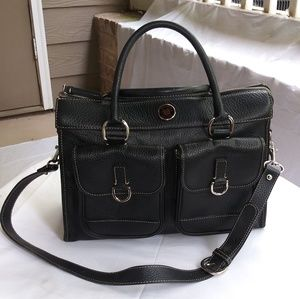 Dooney and Bourke Double Pocket Leather Tote